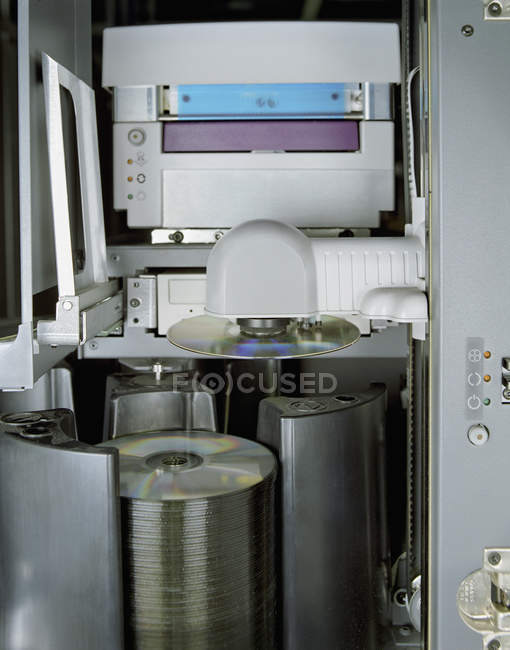 Close up view of  DVD burning machine — Stock Photo