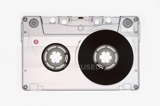 Direkt oberhalb Blick auf Audio-Kassette — Stockfoto