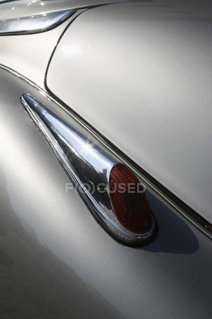 Close up view of tail light on old-fashioned car — Stock Photo