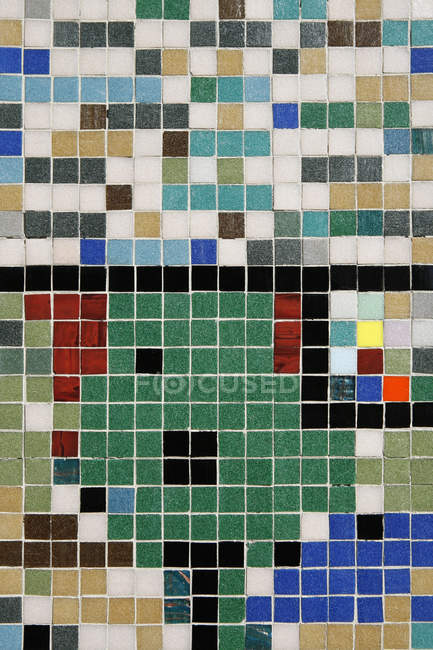 Full frame shot colored tiles composition — Stock Photo