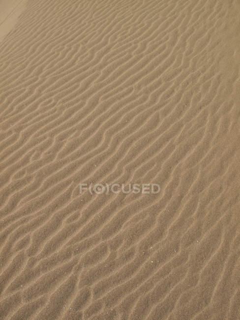 Full frame shot of wave pattern on sand in desert — Stock Photo