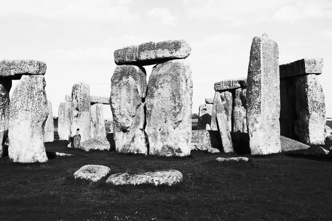 Вид камней Стоунхенджа на небо — стоковое фото