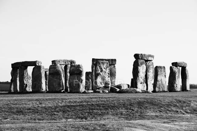 Перегляд Стоунхендж проти неба, текстові редактори, Сполучені Штати Америки — стокове фото