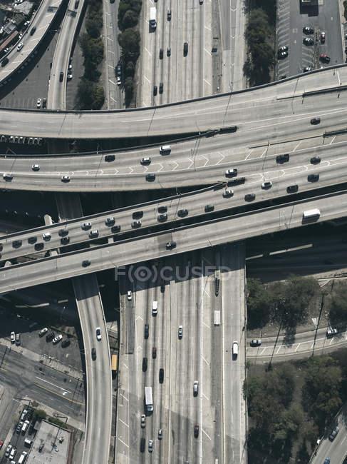 Автострады и эстакады, Лос-Анджелес, Калифорния, США — стоковое фото