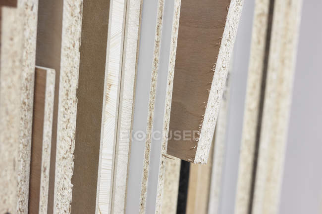 Close up textured edges of plywood — Stock Photo