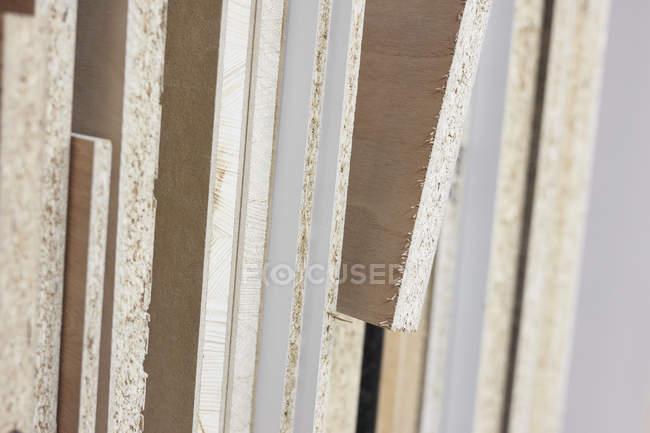 Close-up textura bordas da madeira compensada — Fotografia de Stock