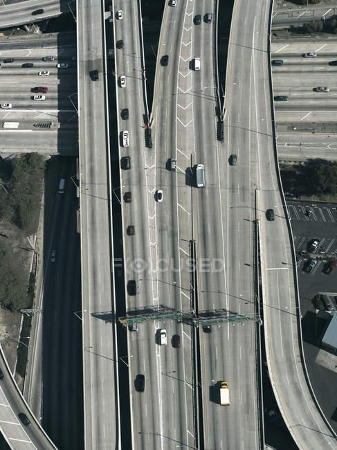 Autostrade e cavalcavia, Los Angeles, California, Stati Uniti d'America — Foto stock