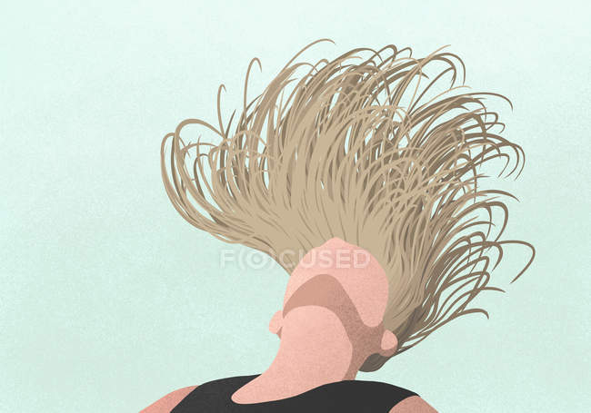 Carefree woman flipping hair — Stock Photo