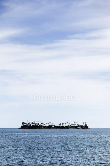 View of THUMS oil island off Long Beach, California, USA — Stock Photo