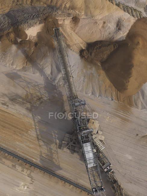 Vue aérienne mine de lignite, Gartzweiler, Rhénanie-du-Nord-Westphalie, Allemagne — Photo de stock