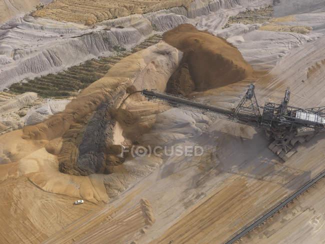 Аэрофотоснимок шахты бурого угля, Gartzweiler, Северный Рейн-Вестфалия, Германия — стоковое фото