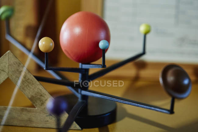 Solar system model indoors — Stock Photo