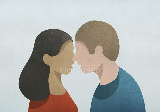 Couple face to face — Stock Photo