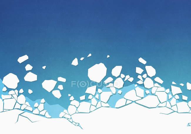 Ve desde arriba de hielo en el océano - foto de stock