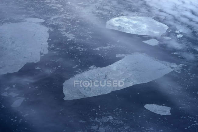 Ice floating on tranquil ocean, Greenland — Stock Photo