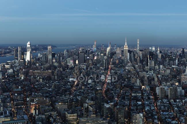 Мальовничий вид на міський пейзаж, Нью-Йорк, Нью-Йорк, США — стокове фото
