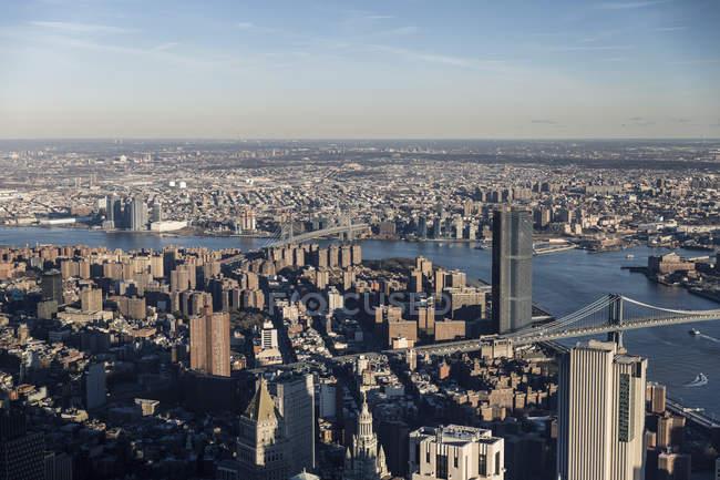 Vue panoramique sur le paysage urbain, New York, New York, États-Unis — Photo de stock