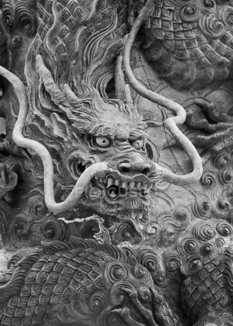 Dragon stone carving, Kiyomizu-dera Temple, Kyoto, Japan — Stock Photo