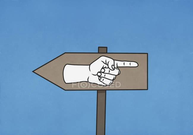 Panneau confus pointant dans les deux sens — Photo de stock