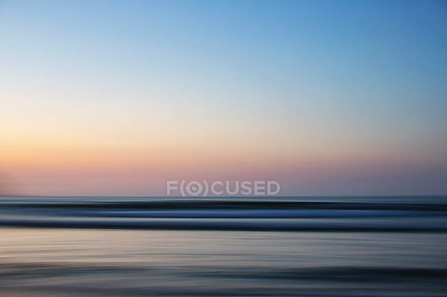 Вид океана на закат, Саюлита, Наярит, Мексика — стоковое фото