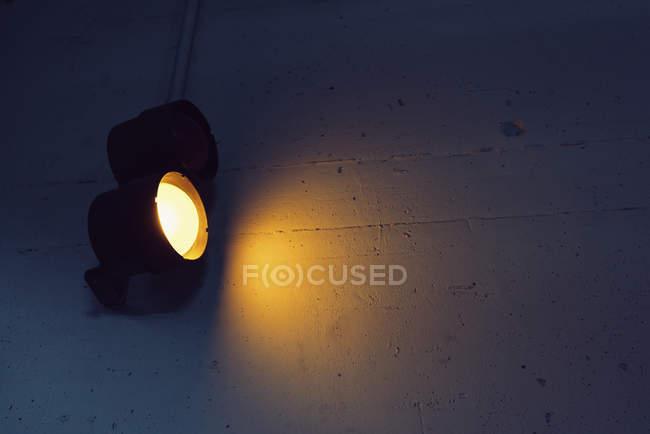 Yellow subway light in tunnel — Stock Photo