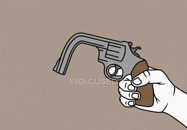 Arme pliée de fixation de main — Photo de stock