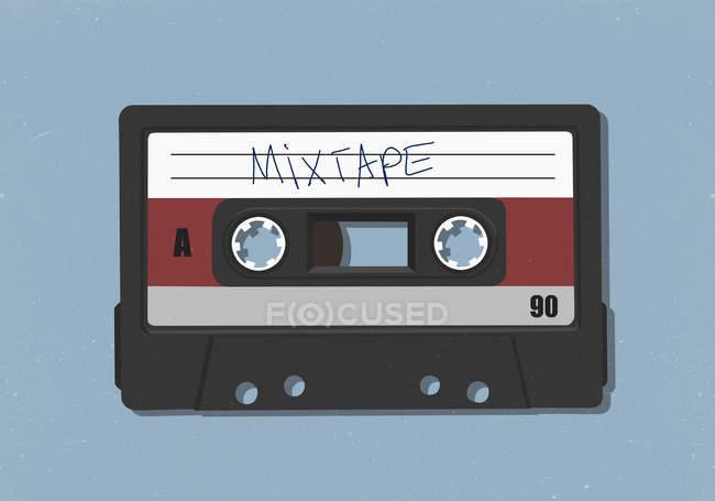 Retro mix tape cassette tape — Stock Photo