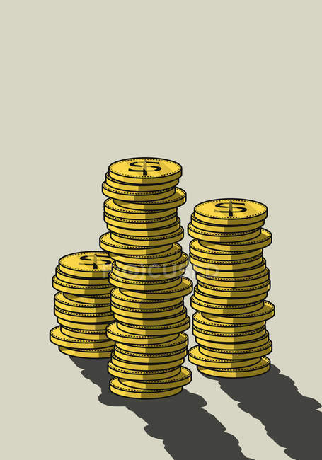 Stacks of US Currency coins — Stock Photo