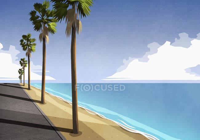 Sonniges und idyllisches tropisches Meer — Stockfoto