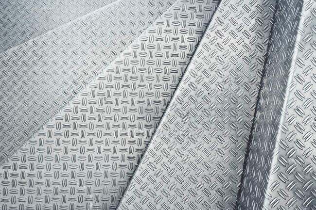 Channeled metal sheet texture — Stock Photo