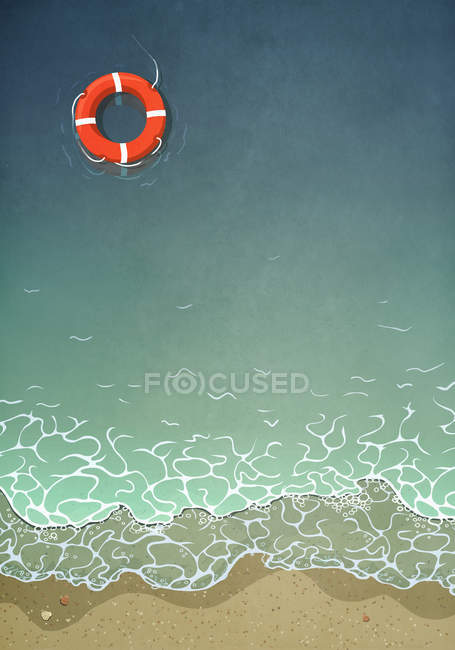 Жизнь плавает в океанской воде — стоковое фото