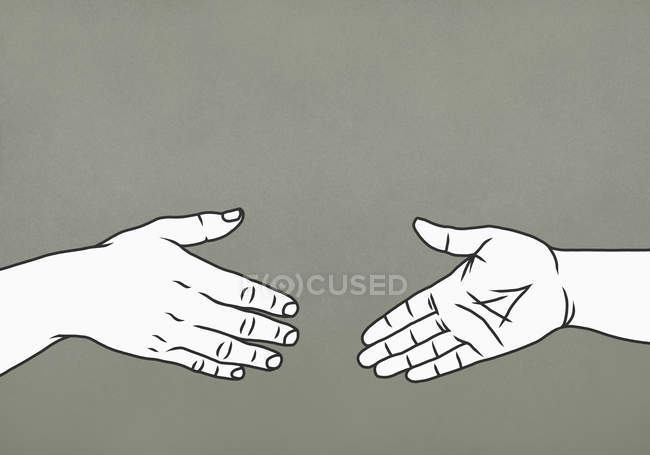 Женщины тянутся к рукопожатию — стоковое фото