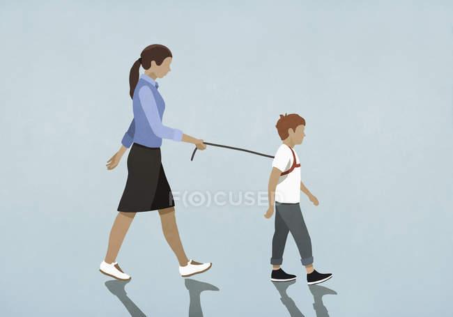 Мати ходила з упряжкою. — стокове фото