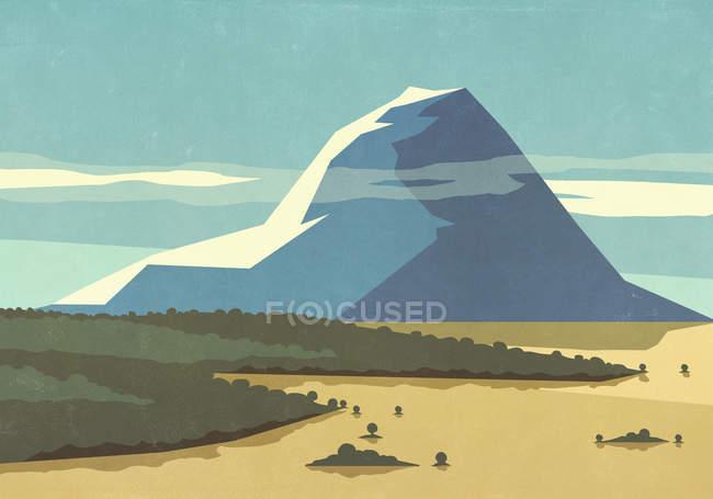 Soleggiato, vista panoramica paesaggio montano — Foto stock