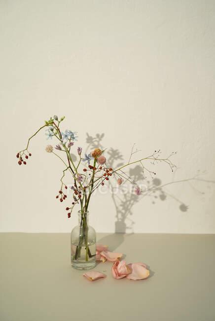 Disposizione floreale appassita in vaso — Foto stock