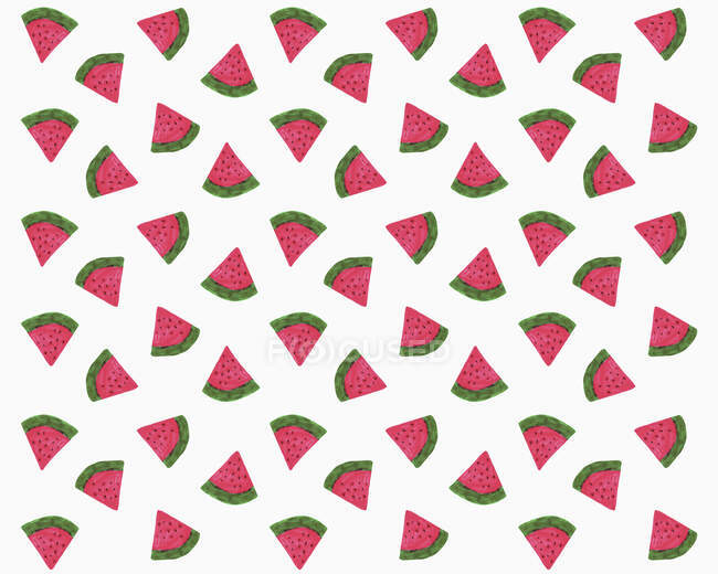 Illustration of watermelon slices on white background — Stock Photo
