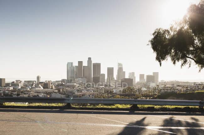Sunny cityscape, Los Angeles, California, USA — стокове фото