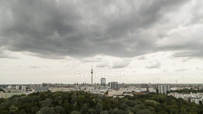 Berlin cityscape and Television Tower, Germany — стокове фото