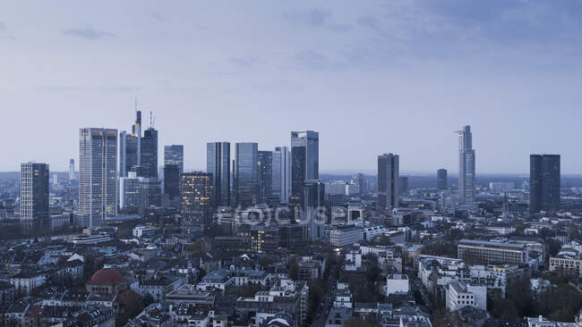 Frankfurter Hochhäuser und Stadtbild, Deutschland — Stockfoto