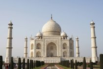 Taj Mahal with towers on sides during daytime, Agra, India — Stock Photo