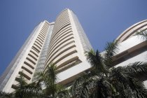 Bombay Stock exchange building ; share market ; Mumbai Bombay ; maharashtra ; india — Stock Photo