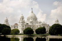 Victoria memorial impressive reminder of Raj white marble museum house ; Calcutta now Kolkata; West Bengal ; India — Stock Photo