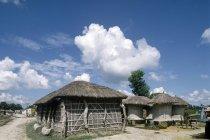 Небольшой деревянный Villagehouse — стоковое фото