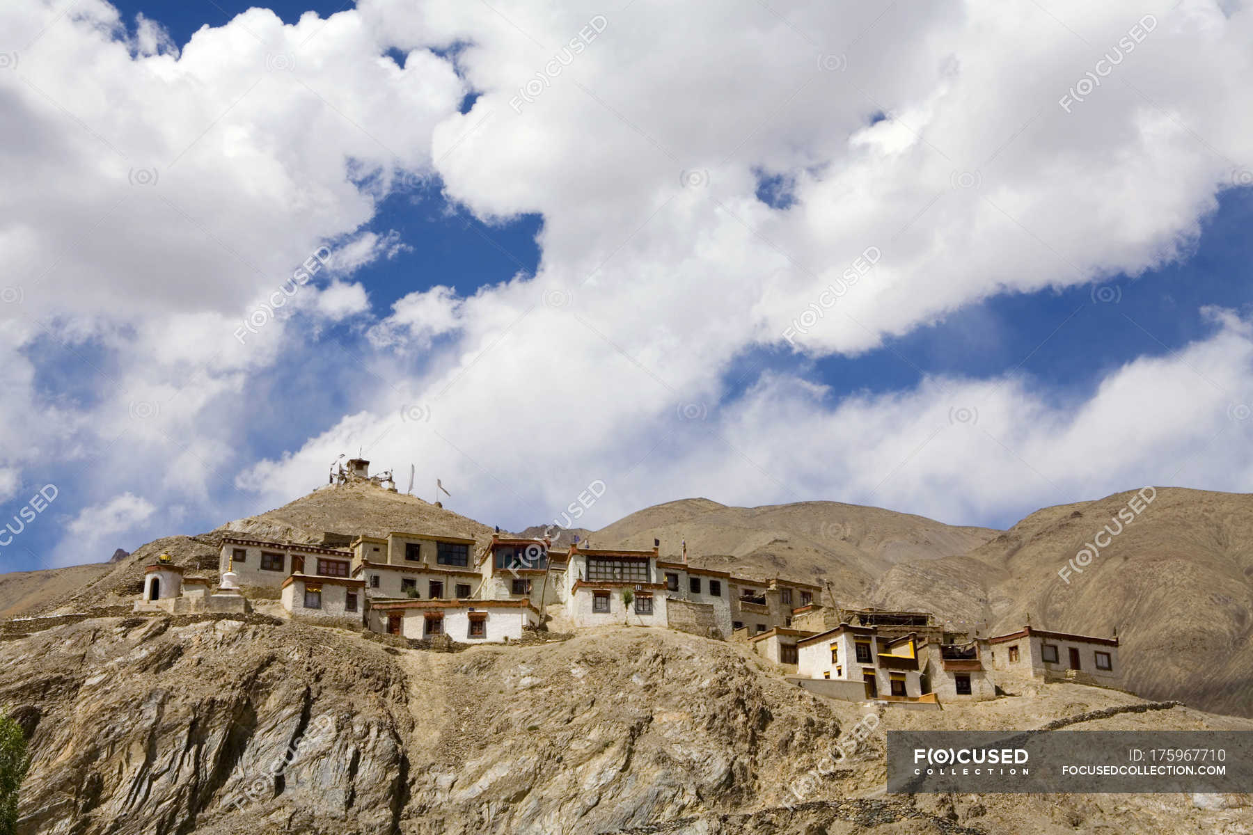 Meditation cells of the Lamayuru Buddhist Monastery rising