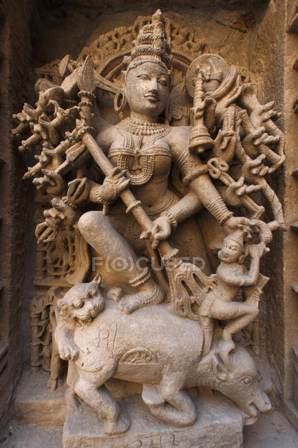 Front view of indian god — Stock Photo