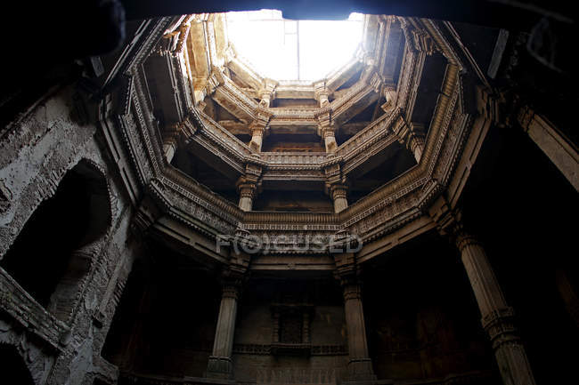 Stages inside ancient temple — Stock Photo