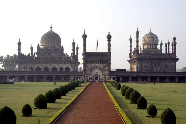 Veduta del palazzo di Ibrahim Roza, Bijapur, Karnataka, India, Asia . — Foto stock