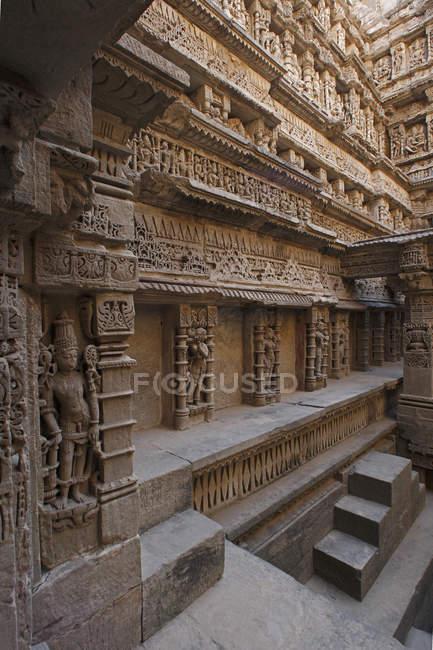 Intérieur du temple indien — Photo de stock