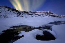Northern Lights in Skittendalen Valley — Stock Photo