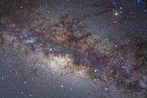Млечный путь через Стрельца и Скорпиона — стоковое фото